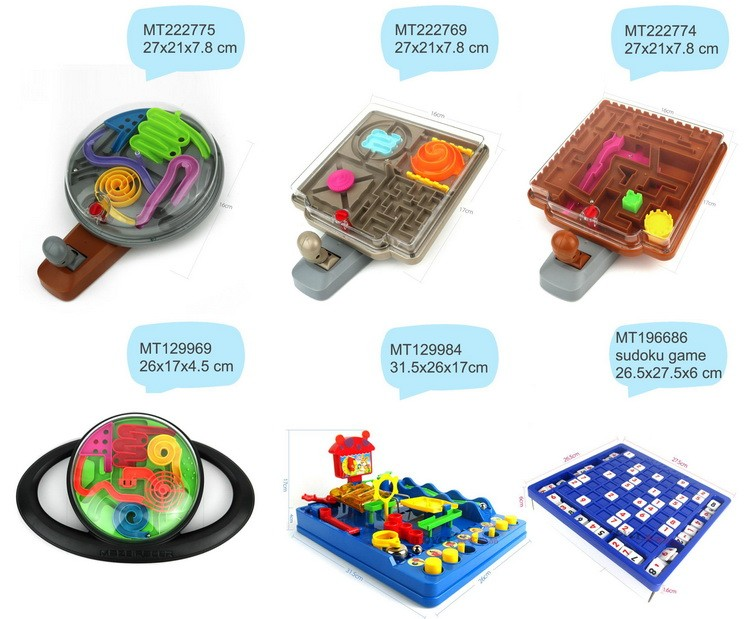 Plastic toys 168steps 3D maze labyrinth ball game