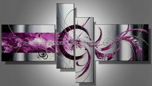 rose red color abstract canvas picture