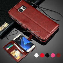 mobile phone card slot stand holder pu leather flip cover case for samsung c4