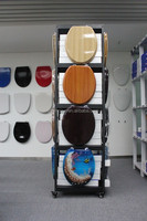 Black toilet seat cover display rack