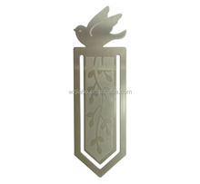 custom zinc alloy silver bird mew design lenticular bookmark