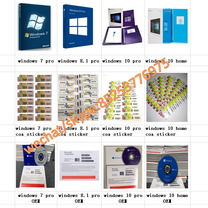 2019 Newest win 10 pro coa sticker Original computer system Software Korean Microsoft Windows 10 Home FPP key Win 10 home