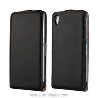 Genuine Leather Real Leather Slim Flip Case Cover For Sony Z2