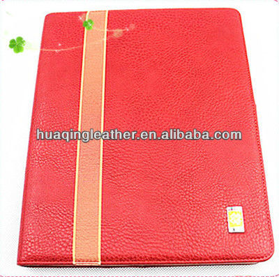 luxury bling design case for ipad with leather marterial in popular crowd