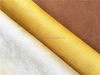 suede leather fabric low price for shoes ,faux suede leather tannery in China, leather material for clothes