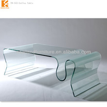 Fashan Newland furniture factory modern hot bending glass elephant coffee table TB-543
