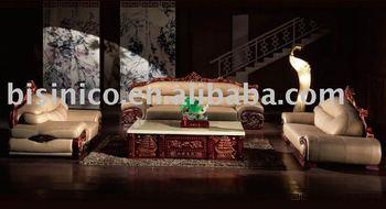 Antique European Style Genuine Leather Sofa Set.fabric Sofa Set. Genuine  Leather Sofa.