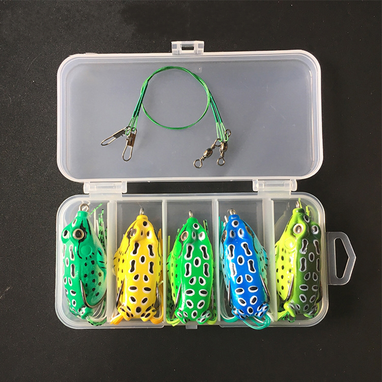 Hot Sale <strong>Fishing</strong> Tackle Plastic <strong>Fishing</strong> Lure Soft Frog Lures Set