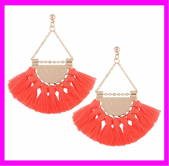 KDA4731 Latest wholesale custom tassel silk thread earrings