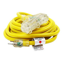 50Ft 10 /3 Gauge tri-tap industrial power Electrical Extension Cords