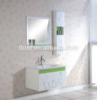 white mirrored MDF, PVC wall mounted acrylic shower tray for hotel and bathroom and bathroom vanity