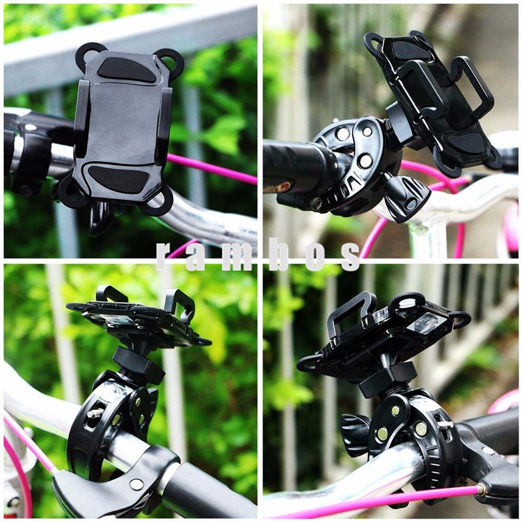 Portable Rotate cellphone Handlebar Bicycle Mount Cradle Bike Stand Holders for iphone SE/6/6S
