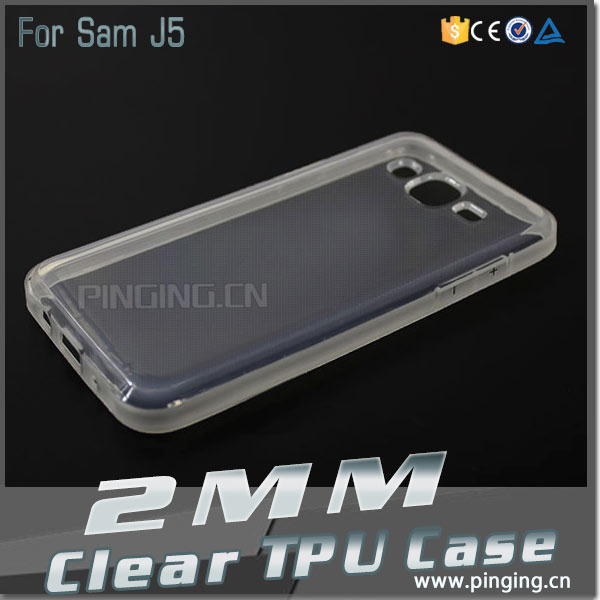 Thicken 2MM TPU Clear Transparent Silicone Case Cover For Samsung Galaxy J5