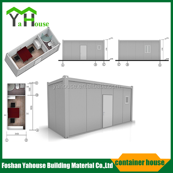 Prefabricated steel frame sandwich panel container house for store office canteen