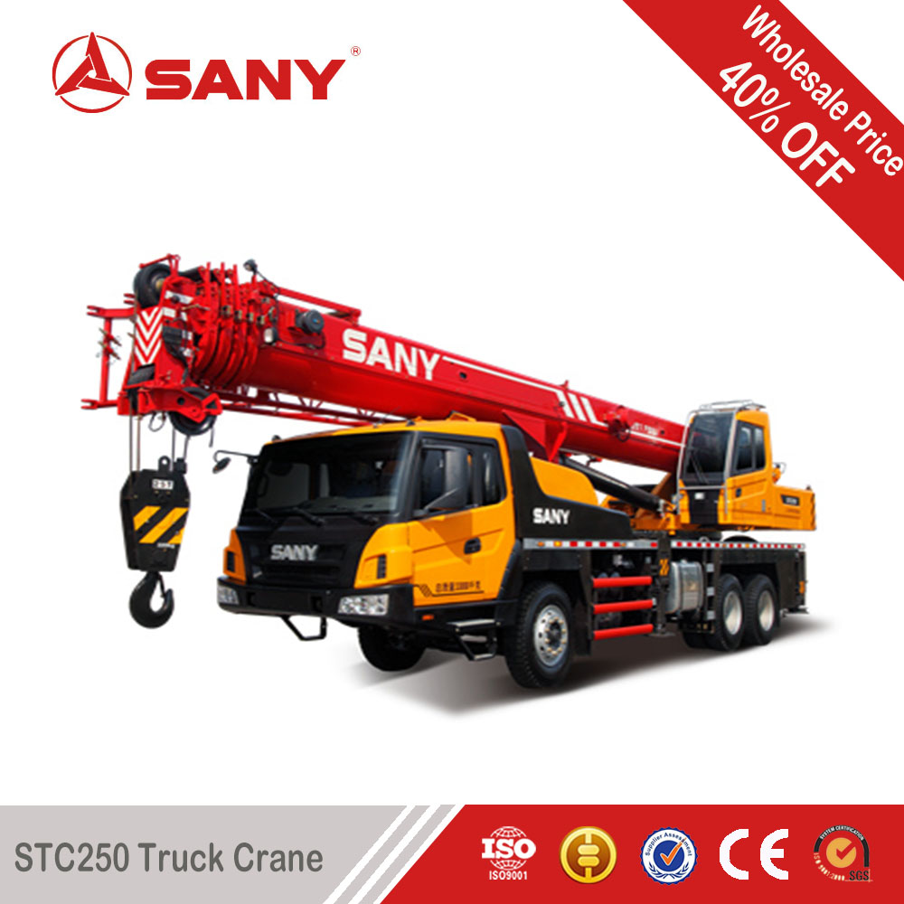 SANY STC250 25 Ton New Condition truck mountain crane for lifting projrect