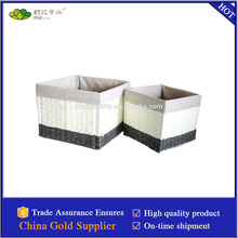 paper woven basket with liner made in china