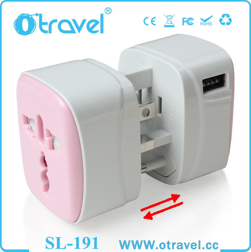 Alibaba express UK to EU plug travel adapter charger converter with 1 USB
