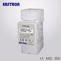 SDM220D Single Phase Digital Energy Meter ,2 modules din rail electric kwh meter, power meter, Imax: 80A