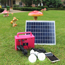 cheap price portable 10w mini solar system for home lighting with phone charger