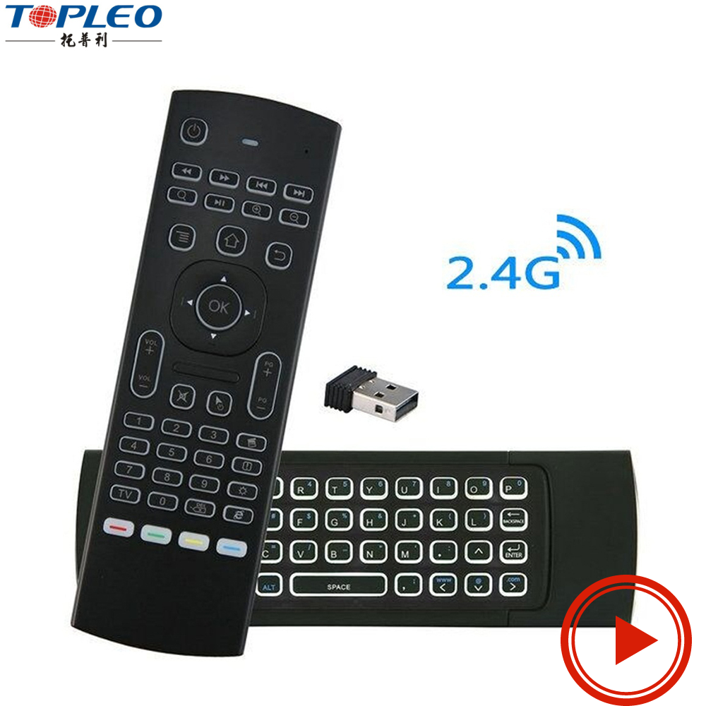 MX3 2.4G Kodi Remote with Backlit Mini Wireless Keyboard Mouse Air Control for Android Smart TV Box