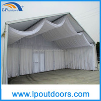 Outdoor white lining with curtain marquee party tent for wedding