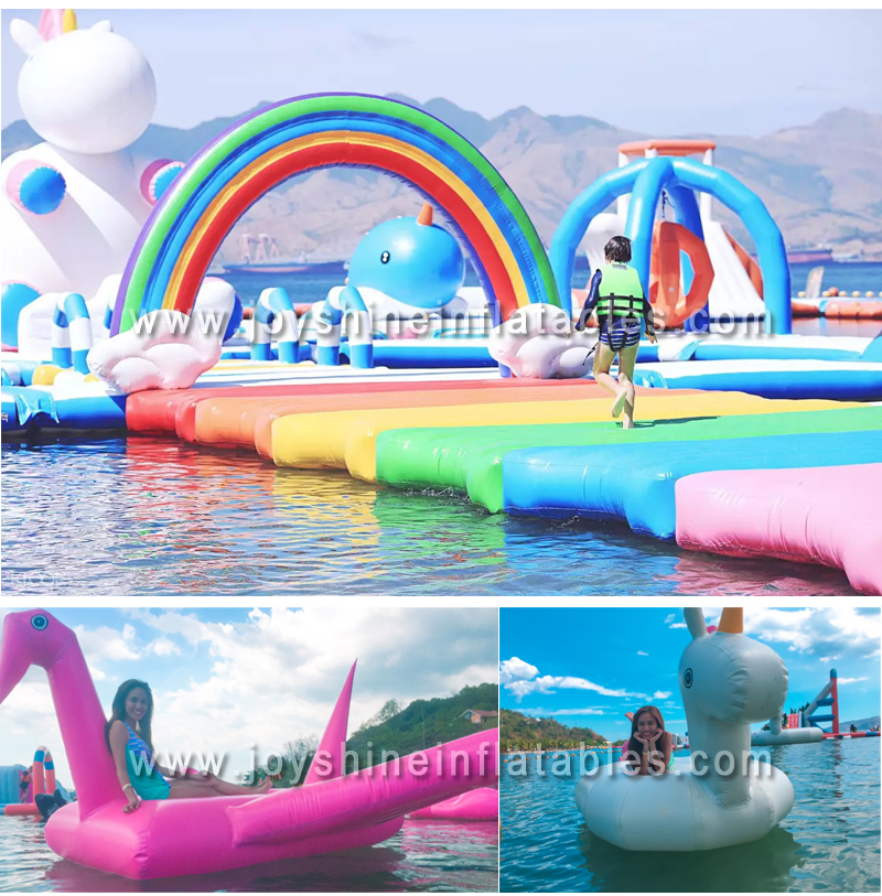 Customized Giant Inflatable Floating Water Obstacle Course Aqua Parks Sea Float Water Amusement Park For Sale