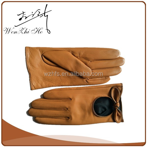 Discount Sale Fashion Opera Dress Mens Yellow Leather Gloves