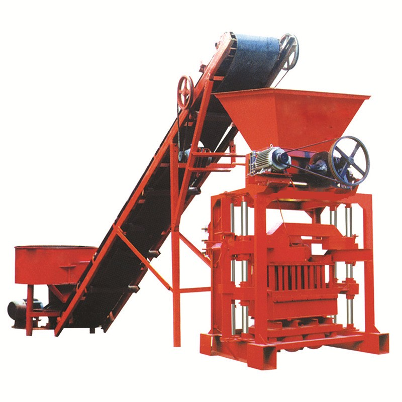 QTJ 4-35 hollow brick making machine very popular in Africa south africa coal
