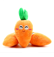 New design perfect Pet vegetables toys Plush vocal carrot pet toys 15*7cm