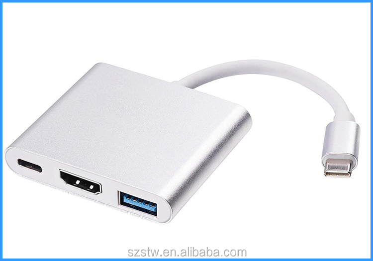 3 IN 1 Type C to USB 3.1 with H-dmi/USB 3.0 Ports type c adapter