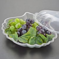 Manufacturer clear disposable plastic dishes fruit plate