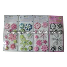 2014 HOT 3D Handmade Flower Craft/Sticker Sets