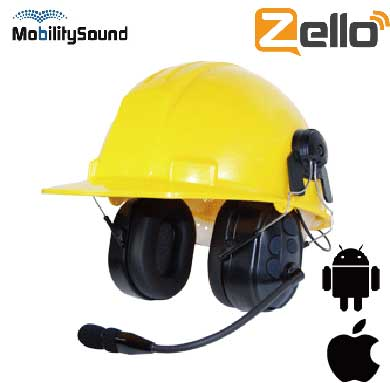 Bluetooth Wireless PTT Ear muff headset for Zello iphone Adnroid accessory
