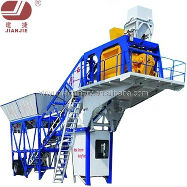 Zhengzhou YHZS75 Mobile Concrete Batching Plant Machine for Small Business at Best Price