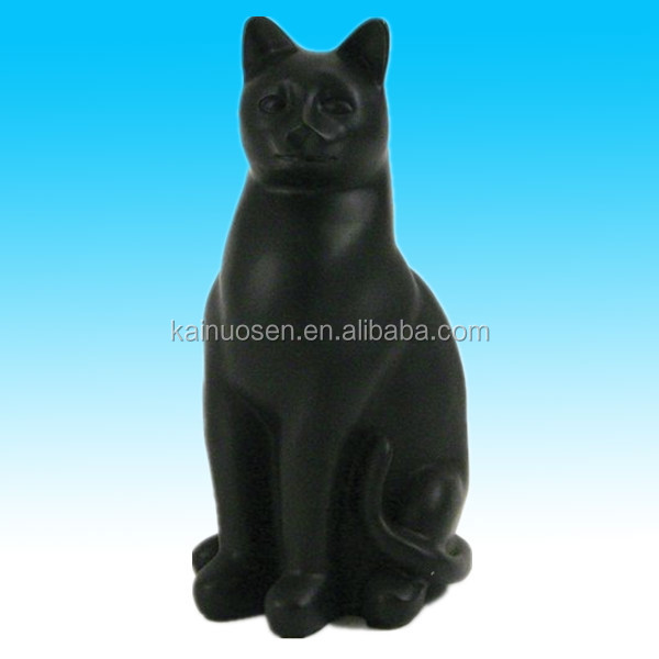 big black sitting resin pet cat statues for decoration