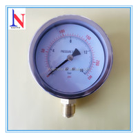 4 inch standard stainless steel case bourdon tube pressure gauge