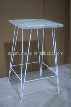 Marble Cocktail Table for events rental use T72