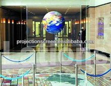 Transparent holographic projector screen for large vocal concert
