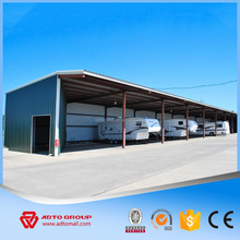 Light Steel Prefabricated Car Garage, Steel Parking Carport with Professional Design Outdoor Parking Steel Shed