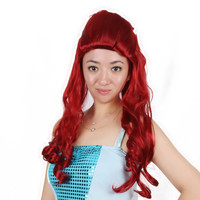 QY-9191long curly party poison lvy halloween wigs