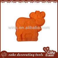 animal shape 3d silicone molds for cake tools