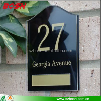 House Sign Name Plaques In Bulk, Acrylic House Sign, Acrylic Number Door Sign