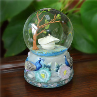 Rotating Girl Dancing Statue Water Globe Giftware Mass Production
