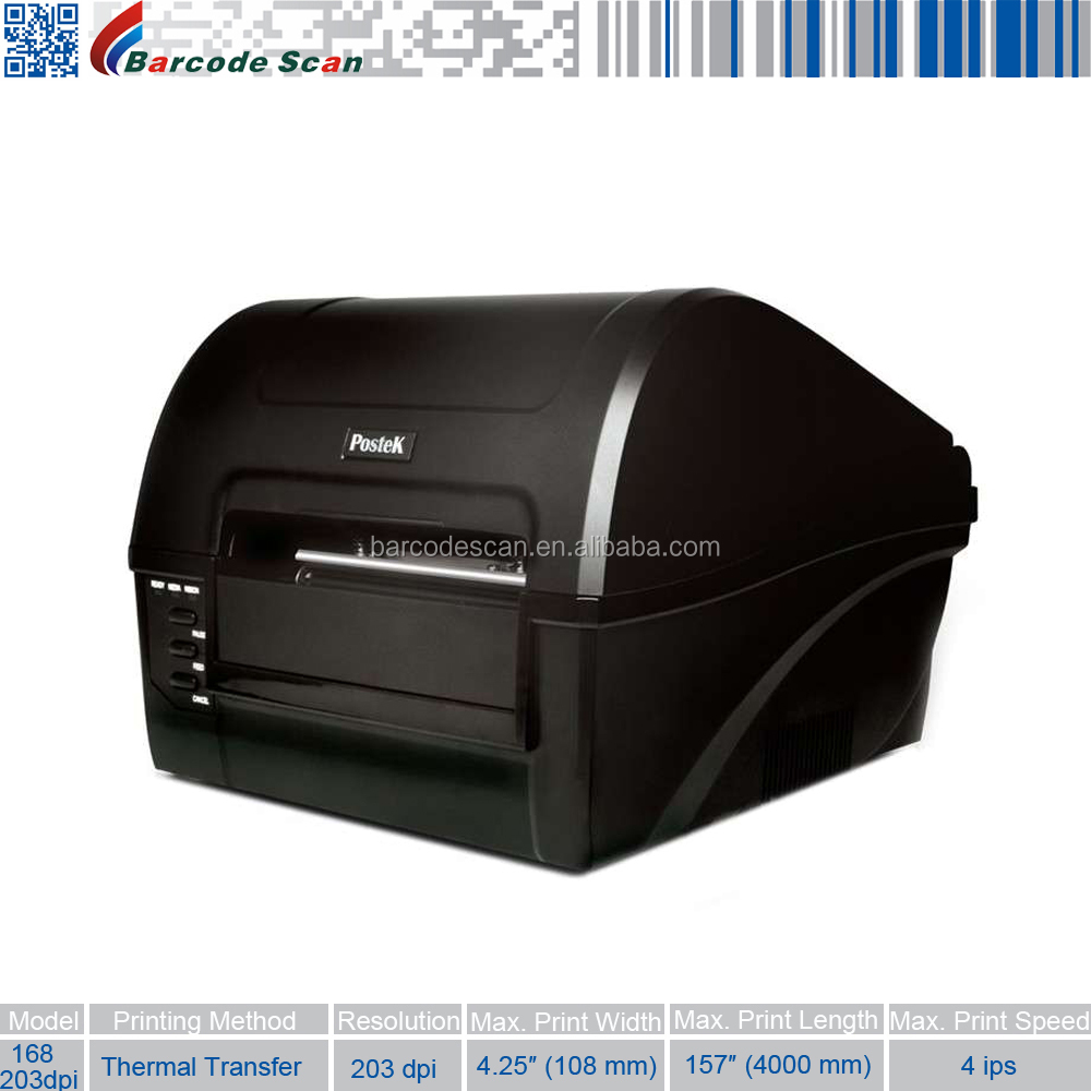 Bar Code Printer Thermal Transfer Postek C168 Label Printer