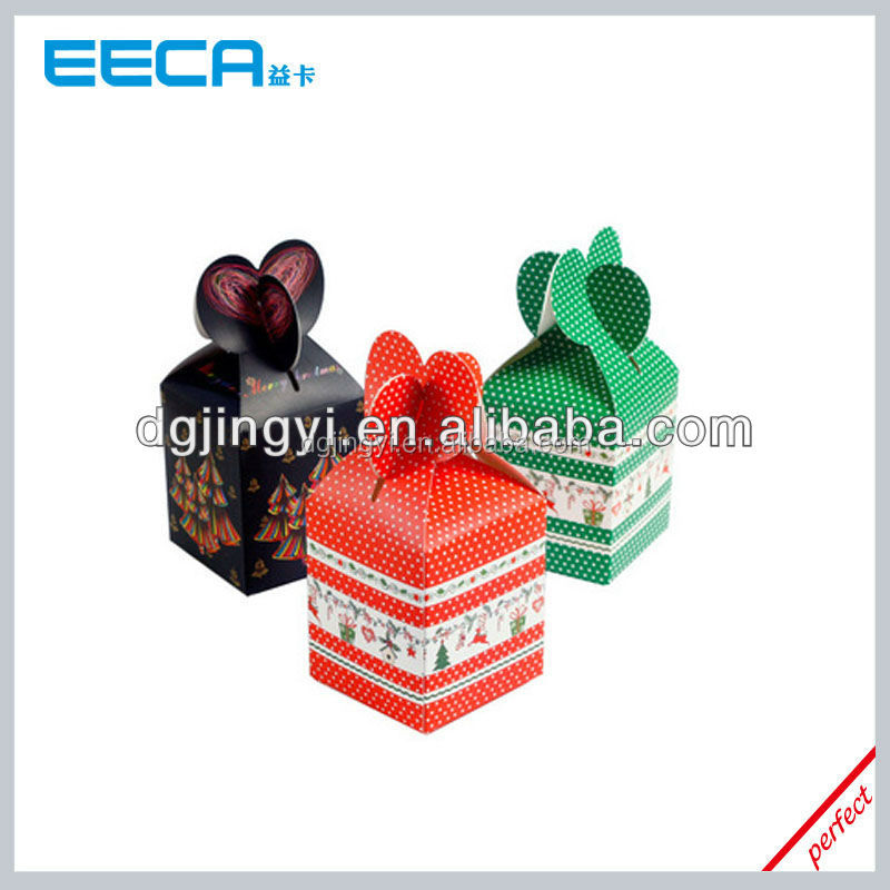 2016 square shape gift candy paper box/Christmas apple gift packaging box