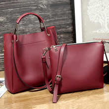 8826 Woman bag set 2pcs Fashion lady handbag women bag sets high quality PU handbags in 1 set