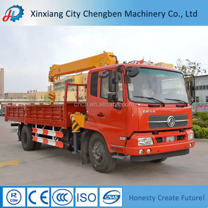 The most cost-effective used 10 ton knuckle boom truck mounted crane with flatbed