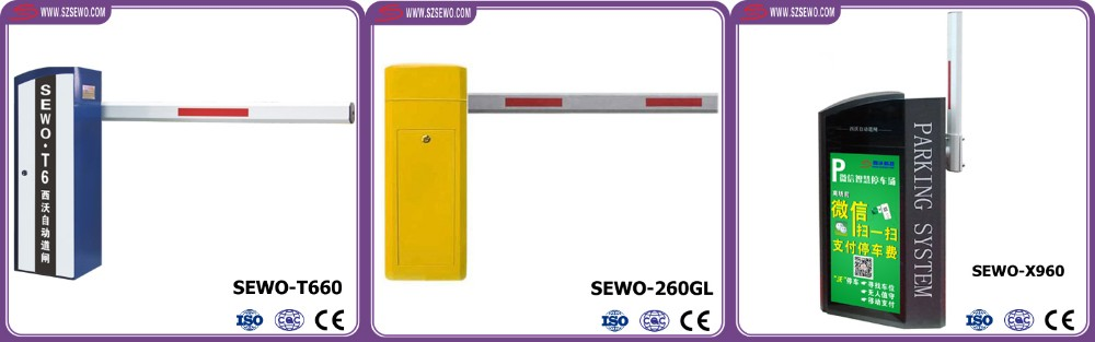 CE Approval LED backlight Parking Lot Access Control folding arm barrier gate