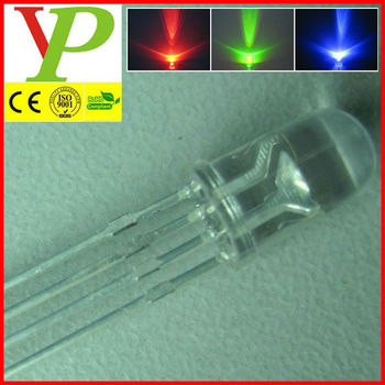 high bright water clear lens 4-pin rgb led diode