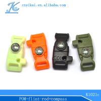 Factory price plastic buckle 3-way plastic buckle nylon belt with plastic buckle